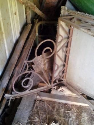 Козырек кованный, покрыт оцинковкой,  состояние хорошее хранится на даче в гараж. Запорожье, Запорожская область. фото 4