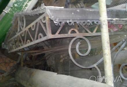 Козырек кованный, покрыт оцинковкой,  состояние хорошее хранится на даче в гараж. Запорожье, Запорожская область. фото 1
