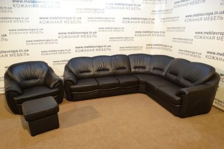 Продам Б/У кожаную мебель с Германии. Бахмач. фото 1