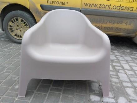 Кресло из пластика, для улицы, пляжа, бассейна, дачи. Кресло два цвета белое и к. Одесса, Одесская область. фото 4
