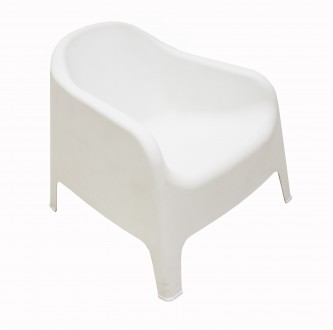 Кресло из пластика, для улицы, пляжа, бассейна, дачи. Кресло два цвета белое и к. Одесса, Одесская область. фото 3
