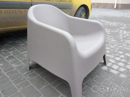 Кресло из пластика, для улицы, пляжа, бассейна, дачи. Кресло два цвета белое и к. Одесса, Одесская область. фото 1