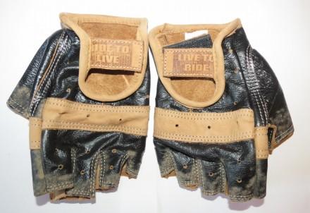 Кожаные мото перчатки для байкеров, водителей, мотоперчатки. Харьков. фото 1
