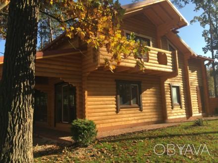 Продается деревянный дом со сруба в центральной части г. Буча, построенный из эк. Буча, Киевская область. фото 1