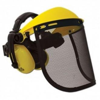 Защитный щиток, металлическая сетка с наушниками. Буча. фото 1