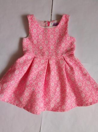 нарядное фактурное платье девочке 1-2 лет F&F. Сумы. фото 1