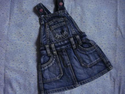 джинсовый сарафан Adams для девочки 6-9 мес, до 74 см. Сумы. фото 1