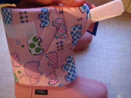 Продам новые   Сноубутсы TUNDRA оригинал (Канада). Цвет: розовый. Нарисованы бе. Херсон, Херсонская область. фото 5