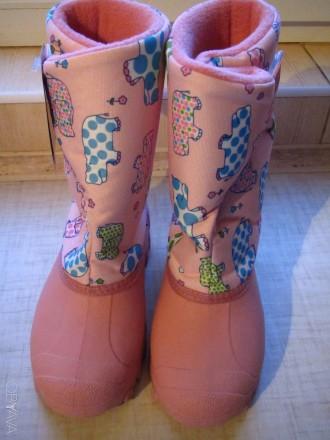 Продам новые   Сноубутсы TUNDRA оригинал (Канада). Цвет: розовый. Нарисованы бе. Херсон, Херсонская область. фото 6