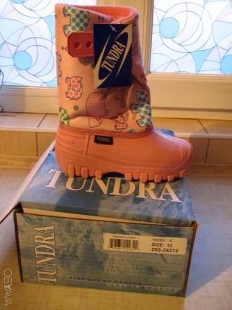 Продам новые   Сноубутсы TUNDRA оригинал (Канада). Цвет: розовый. Нарисованы бе. Херсон, Херсонская область. фото 9