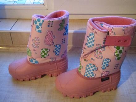 Продам новые   Сноубутсы TUNDRA оригинал (Канада). Цвет: розовый. Нарисованы бе. Херсон, Херсонская область. фото 7