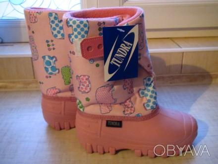 Продам новые   Сноубутсы TUNDRA оригинал (Канада). Цвет: розовый. Нарисованы бе. Херсон, Херсонская область. фото 1