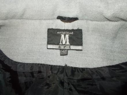 Продам  серое полупальто р.L  б/у в нормальном состоянии.  Состав ткани: хлопок+. Чернигов, Черниговская область. фото 6