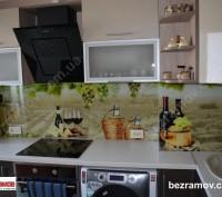 Производство и монтаж скинали (кухонный фартух из закаленного стекла 6 мм). Нане. Одесса, Одесская область. фото 10