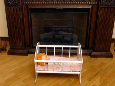 Деревянная кроватка для куклы - хороший подарок девочкам от 2 лет.Размер спально. Днепр, Днепропетровская область. фото 3