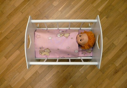 Деревянная кроватка для куклы - хороший подарок девочкам от 2 лет.Размер спально. Днепр, Днепропетровская область. фото 4