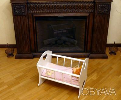 Деревянная кроватка для куклы - хороший подарок девочкам от 2 лет.Размер спально. Днепр, Днепропетровская область. фото 1