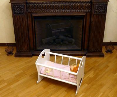 Деревянная кроватка для куклы. Днепр. фото 1