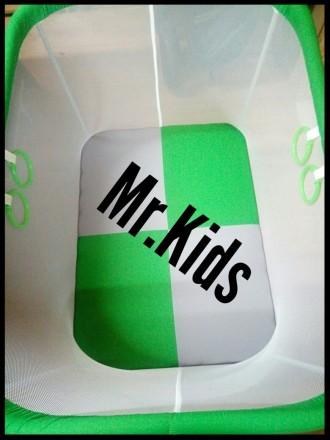 Детский прямоугольный манеж Mr.kids с плащевки)   Имеет очень простую конструк. Борисполь, Киевская область. фото 2