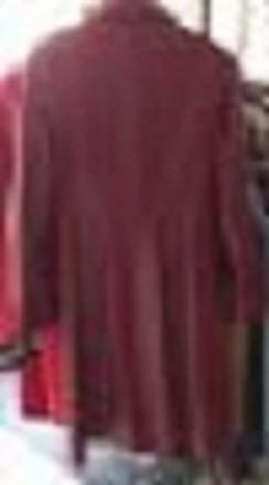 Продается женский кожаный плащ (кардиган) красного цвета, (точнее, темно-алый) и. Львов, Львовская область. фото 3