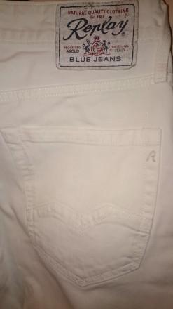 Роскошные белые джинсы от известнейшего итальянского бренда Replay. Качественный. Киев, Киевская область. фото 9