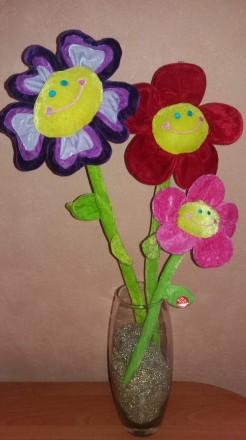 Веселые цветы-игрушка, декор.. Киев. фото 1
