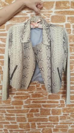 Куртка кожаная из питона. Днепр. фото 1