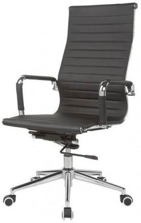 Директорское офисное кресло на хромированной основе делает кресло прочным. Мягка. Киев, Киевская область. фото 2