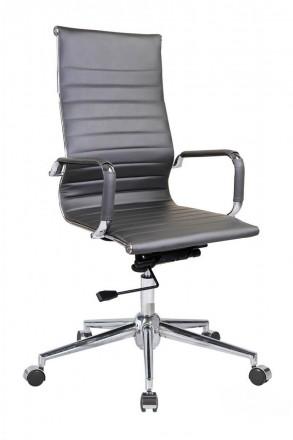 Директорское офисное кресло на хромированной основе делает кресло прочным. Мягка. Киев, Киевская область. фото 3
