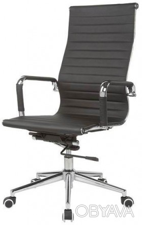 Директорское офисное кресло на хромированной основе делает кресло прочным. Мягка. Киев, Киевская область. фото 1