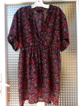 Красивая блузка большой размер на резинке. Хуст. фото 1