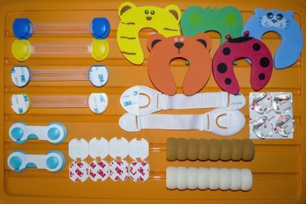 Детская Безопасность. Защита на шкафчики, двери, углы, розетки, ручки. Херсон. фото 1