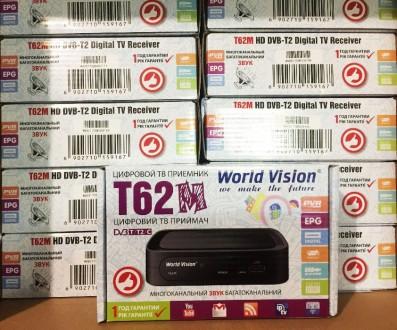 Цифровой Т2тюнер WorldVision T62М+ Интернет+Youtube+ AC3+WiFi адаптер. Запорожье. фото 1