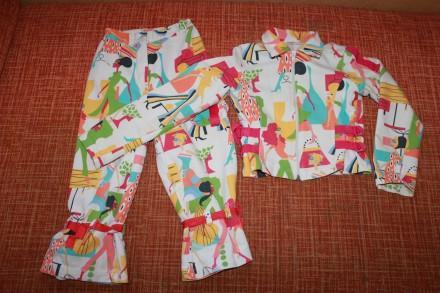 Супер-стильный коттоновый костюм на 8 лет. Запоріжжя. фото 1