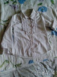 школьная рубашка , рукава как длинные но можно сделать 3/4, крепятся на пуговица. Днепр, Днепропетровская область. фото 4