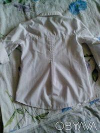 школьная рубашка , рукава как длинные но можно сделать 3/4, крепятся на пуговица. Днепр, Днепропетровская область. фото 6