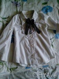 школьная рубашка , рукава как длинные но можно сделать 3/4, крепятся на пуговица. Днепр, Днепропетровская область. фото 2