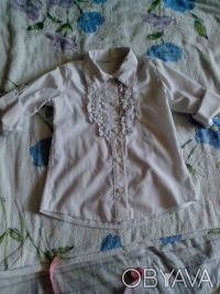 школьная рубашка , рукава как длинные но можно сделать 3/4, крепятся на пуговица. Днепр, Днепропетровская область. фото 3