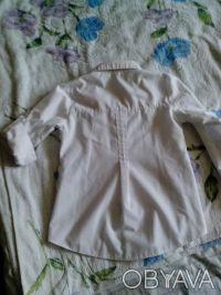 школьная рубашка , рукава как длинные но можно сделать 3/4, крепятся на пуговица. Днепр, Днепропетровская область. фото 5