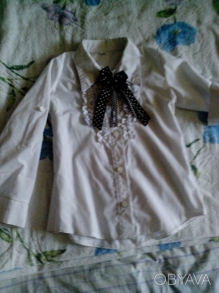 школьная рубашка , рукава как длинные но можно сделать 3/4, крепятся на пуговица. Днепр, Днепропетровская область. фото 1