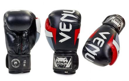 Перчатки боксерские  - 12 унций. Цвет белый с черными надписями, черный с белым. Одесса, Одесская область. фото 3