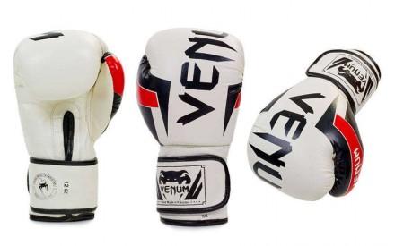Перчатки боксерские  - 12 унций. Цвет белый с черными надписями, черный с белым. Одесса, Одесская область. фото 2