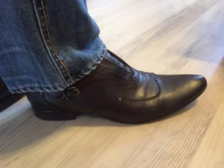 Туфли повседневные кожа под джинсы. Киев. фото 1