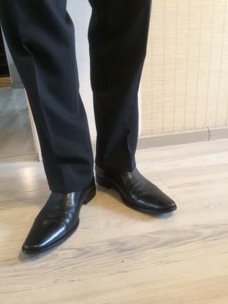 Туфли Welfare классические черные кожа. Киев. фото 1