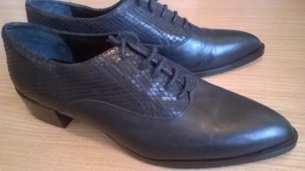 Кожаные туфли броги 40р. 27 см. Pedro Miralles оригинал Испания, ручная работа. Львов. фото 1