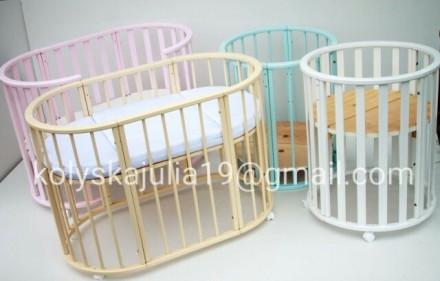 Детская кроватка растет с вашим малышом. Универсальная кроватка 8 в 1,  предназн. Ровно, Ровненская область. фото 7