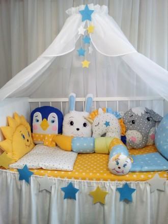 Бортики в кроватку. Мариуполь. фото 1