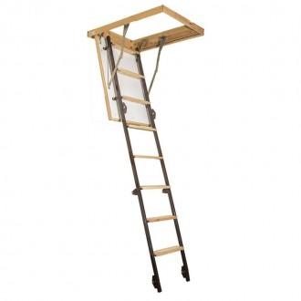 Чердачная лестница Стандарт LONG утепленная 120x70 см. Винница. фото 1
