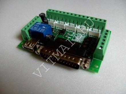 Интерфейсная плата MACH3 (опторазвязка) на 5 осей ЧПУ CNC. Александрия. фото 1