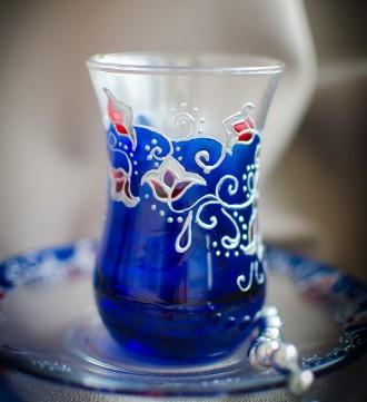 Армуды турецкие стаканчики для чая Аквамарин. Киев. фото 1